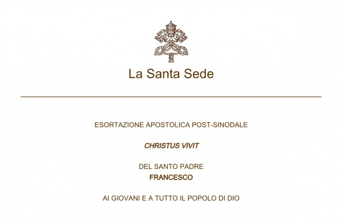 Esortazione apostolica postsinodale con simbolo della Santa Sede