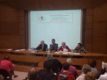 il presidente e i relatori al congresso straordinario del MAC