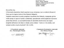 immagine della lettera inviata da presidente e assistente nazionale del MAC