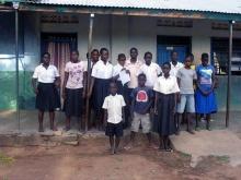 Foto dei ragazzi della scuola di Algar in Uganda