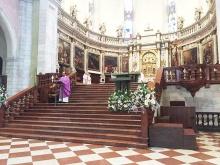 Don Alfonso Giorgio concelebra la S. Messa al duomo di Vicenza marzo 2016